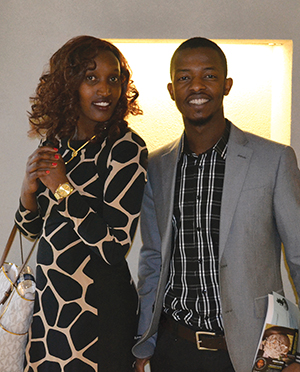 Esperance Gikundiro and Leonard Ndanyuzwe at the refugee resettlement program Jan. 9, 2016 at Salem Heights.