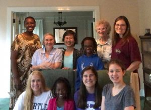 On Sunday, June 10, The Sisters at Amherst House (Mumbi Kigutha, Paula Gero and Marita Beumer) hosted Carroll High School seniors for dinner at the beginning of service week. The two Kenyan younger girls are students at Mother Teresa Catholic Elementary School in Liberty Township, Ohio.