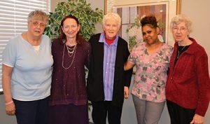 Sister Deb Huss, Sheree Neumann, Sister Ritamary Bulach, Tammy Wortham, Sister Gerri McGeorge